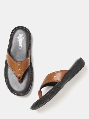 Roadster Men Tan Brown Comfort Sandals Roadster Sandals at myntra