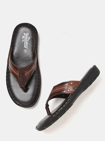 Roadster Men Brown Comfort Sandals Roadster Sandals at myntra