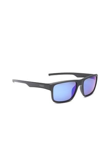 Polaroid Men Mirrored Polarised Rectangle Sunglasses 3018/S DL5 55JY Polaroid Sunglasses at myntra