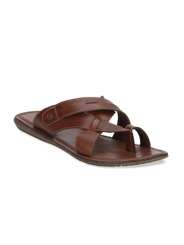 Red Tape Men Brown Comfort Sandals Red Tape Sandals at myntra