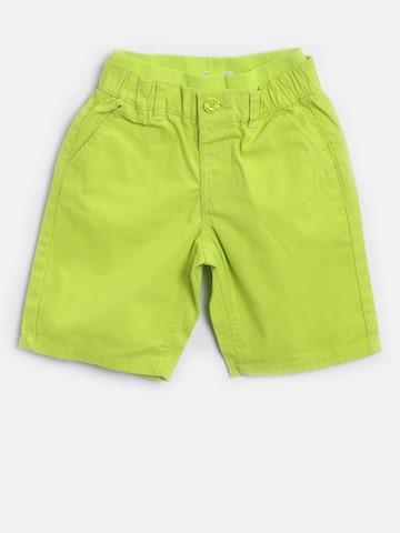 Nauti Nati Boys Lime Green Solid Regular Shorts Nauti Nati Shorts at myntra