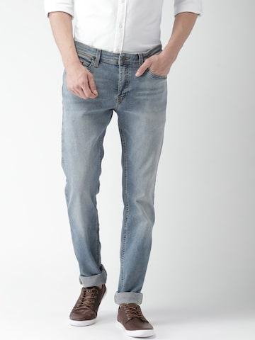 Tommy Hilfiger Men Blue Narrow Slim Fit Mid-Rise Clean Look Jeans Tommy Hilfiger Jeans at myntra