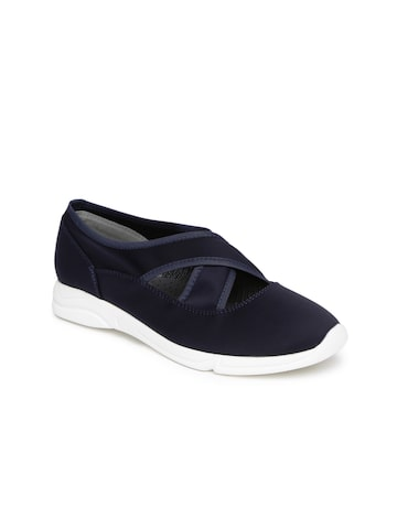 Catwalk Women Navy Solid Slip-On Sneakers Catwalk Casual Shoes at myntra