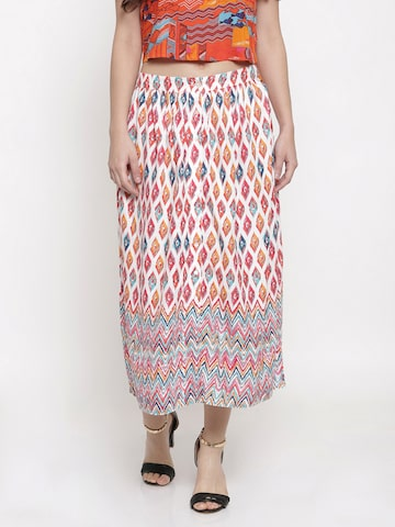 Global Desi Multicoloured Printed Skirt Global Desi Skirts at myntra