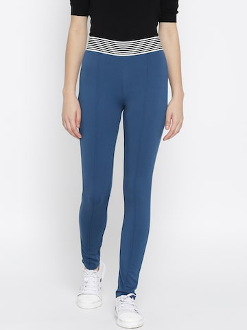 United Colors of Benetton Blue Treggings United Colors of Benetton Jeggings at myntra