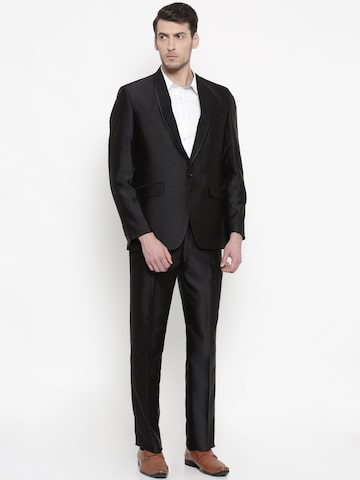 Raymond Men Black Single-Breasted Contemporary Fit Formal Suit Raymond Suits at myntra