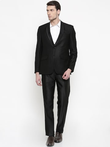 Raymond Men Black Single-Breasted Formal Suits Raymond Suits at myntra