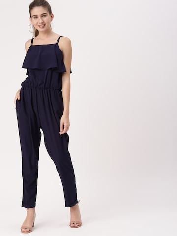 DressBerry Navy Solid Basic Jumpsuit DressBerry Jumpsuit at myntra