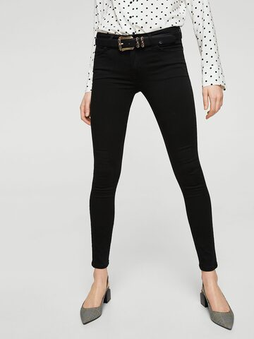 MANGO Women Black Skinny Fit Casual Trousers MANGO Trousers at myntra