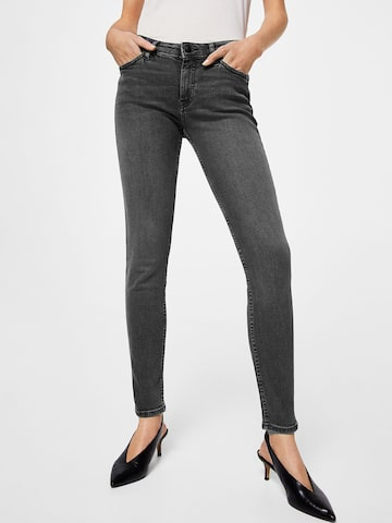 MANGO Women Grey Skinny Fit Mid-Rise Clean Look Stretchable Jeans MANGO Jeans at myntra