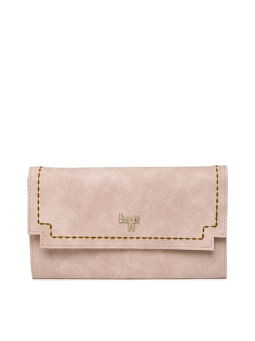 Baggit Women Pink Solid Two Fold Wallet Baggit Wallets at myntra