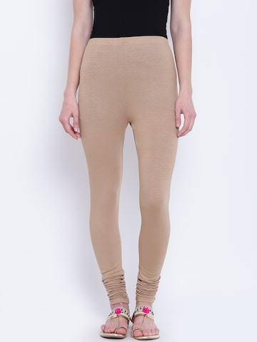 AURELIA Beige Churidar Leggings AURELIA Leggings at myntra