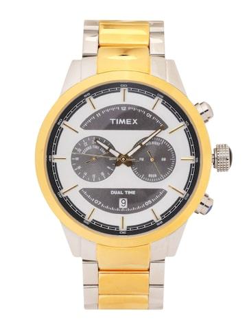 Timex Men Silver-Toned Analogue Watch TW000Y410 Timex Watches at myntra