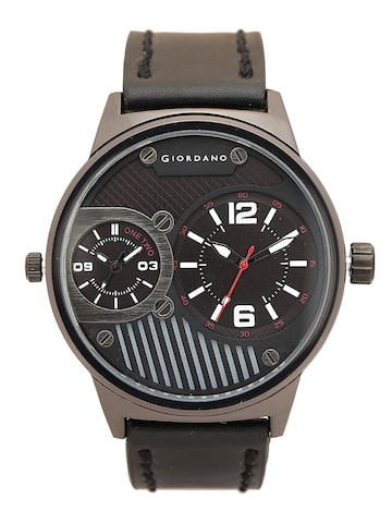 GIORDANO Men Black Analogue Watch C1056-06 GIORDANO Watches at myntra