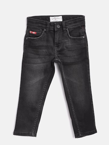 Lee Cooper Boys Black Slim Fit Mid-Rise Clean Look Stretchable Jeans Lee Cooper Jeans at myntra