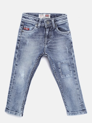 Lee Cooper Boys Blue Skinny Fit Mid-Rise Mildly Distressed Stretchable Jeans Lee Cooper Jeans at myntra