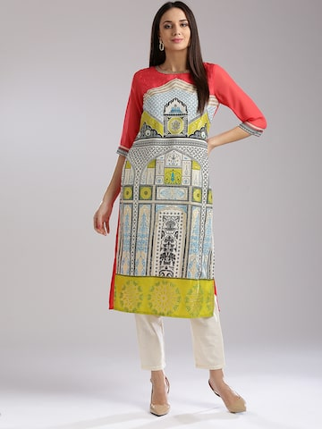 W Women Multicoloured Printed Straight Kurta W Kurtas at myntra