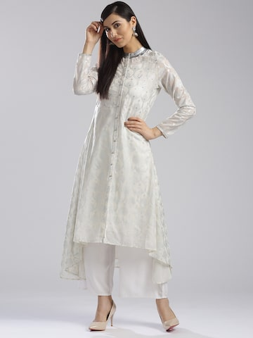W Women Off-White Printed A-Line Kurta W Kurtas at myntra