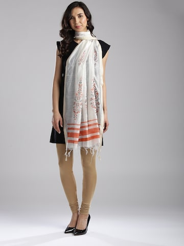 W White & Orange Printed Dupatta W Dupatta at myntra