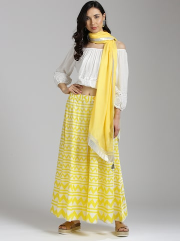 W Yellow Solid Dupatta W Dupatta at myntra