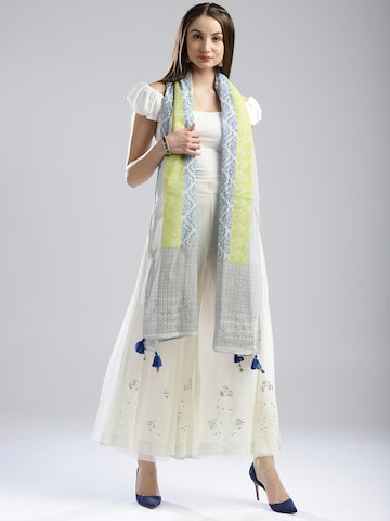 W Blue & Off-White Printed Dupatta W Dupatta at myntra