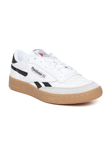 Reebok Classic Men White REVENGE PLUS GUM Leather Sneakers Reebok Classic Casual Shoes at myntra