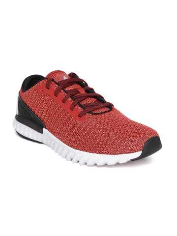 Reebok Men Coral Red Wave Ride Running Shoes Reebok Sports Shoes at myntra