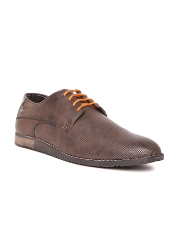 Duke Men Brown Textured Casual Derbys Duke Casual Shoes at myntra
