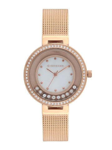 GIORDANO Women Silver-Toned Analogue Watch 2838-44 GIORDANO Watches at myntra