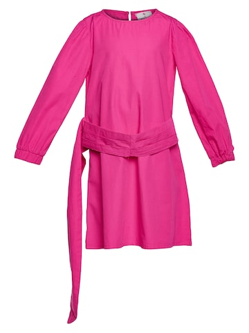 Oxolloxo Girls Pink Solid Shift Dress Oxolloxo Dresses at myntra