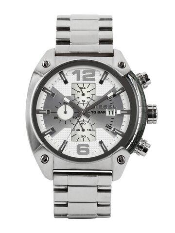 Diesel Men Silver-Toned Dial Watch DZ4203 DIESEL Watches at myntra