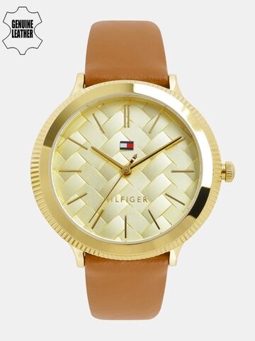 Tommy Hilfiger Women Gold-Toned Textured Analogue Watch NTH1781859_BBD Tommy Hilfiger Watches at myntra