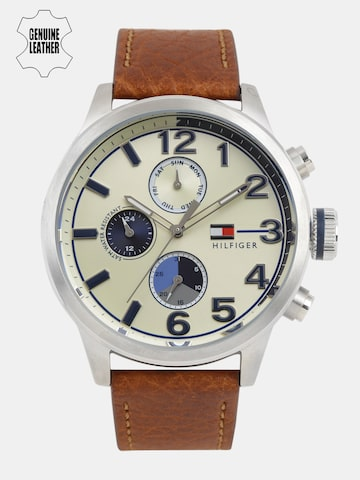 Tommy Hilfiger Men Cream-Coloured Analogue Watch NTH1791239_BBD Tommy Hilfiger Watches at myntra
