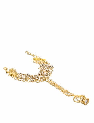 Sia Art Jewellery Gold-Toned & White Ring Bracelet Sia Art Jewellery Bracelet at myntra