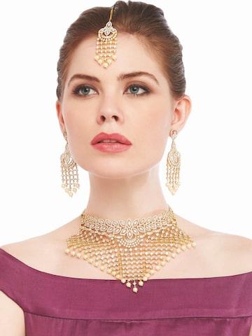 Sia Art Jewellery Gold-Toned Bridal Wear Jewellery Set Sia Art Jewellery Jewellery Set at myntra
