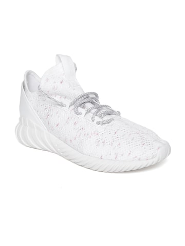 Adidas Originals Men White TUBULAR DOOM SOCK PK Sneakers Adidas Originals Casual Shoes at myntra