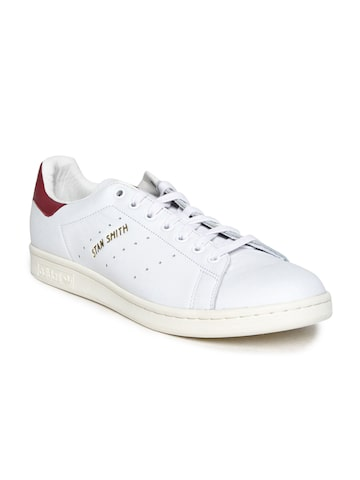 Adidas Originals Men White Stan Smith Sneakers Adidas Originals Casual Shoes at myntra