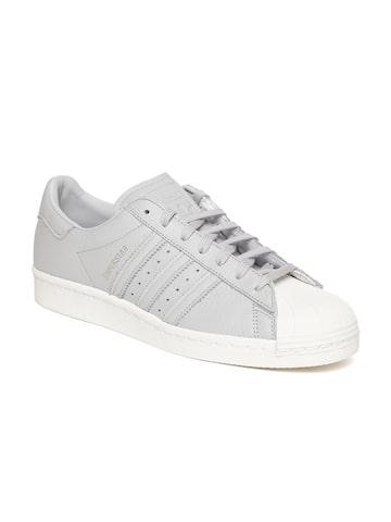 Adidas Originals Men Grey Superstar 80 Sneakers Adidas Originals Casual Shoes at myntra