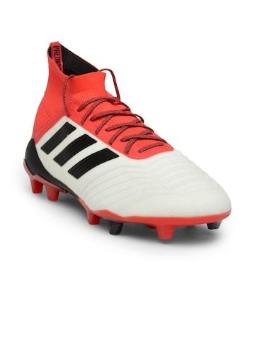 Adidas Men White & Red PREDATOR 18.1 FG Football Shoes Adidas Sports Shoes at myntra