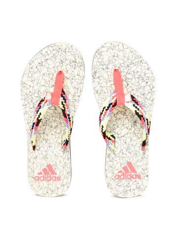 Adidas Women Multicoloured BEACH CORK Self Design Thong Flip-Flops Adidas Flip Flops at myntra