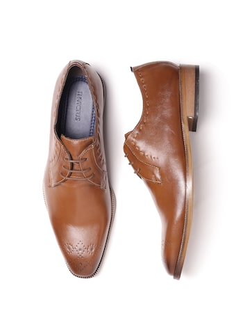INVICTUS Men Tan Brown Formal Derbys INVICTUS Formal Shoes at myntra