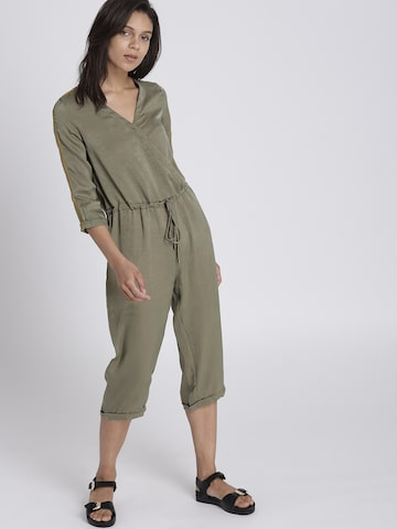 Chemistry Olive Green Solid Basic Jumpsuit Chemistry Jumpsuit at myntra