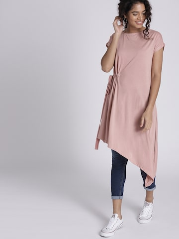 Chemistry Pink Solid Tunic Chemistry Tunics at myntra