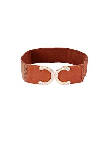 BukleUp Women Tan Synthetic Leather Belt BuckleUp Belts at myntra