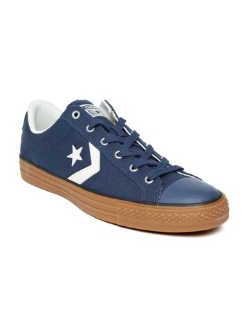 Converse Unisex Navy Blue Canvas Sneakers Converse Casual Shoes at myntra