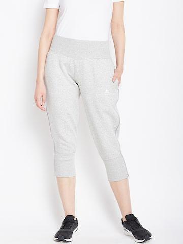 Stella McCartney by Adidas Women Grey Melange ESS Sweat PA 3/4th Joggers Adidas Track Pants at myntra