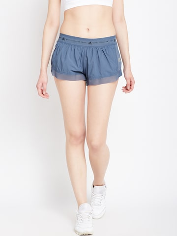 Stella McCartney by Adidas Women Blue Run AZ Sports Shorts Adidas Shorts at myntra
