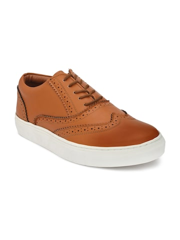 Guava Men Tan Brown Sneakers Guava Casual Shoes at myntra