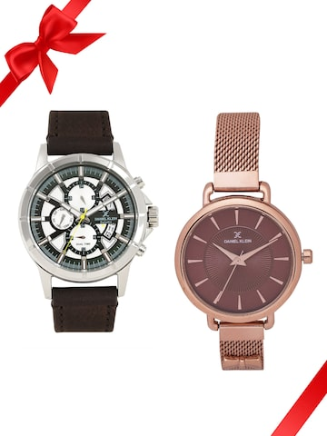 Daniel Klein Set of 2 His & Her Watches Daniel Klein Watches at myntra