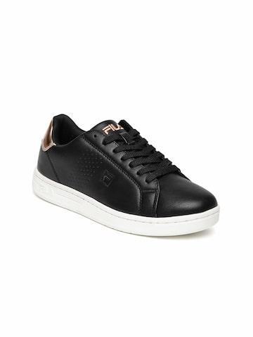 FILA Women Black Sneakers FILA Casual Shoes at myntra